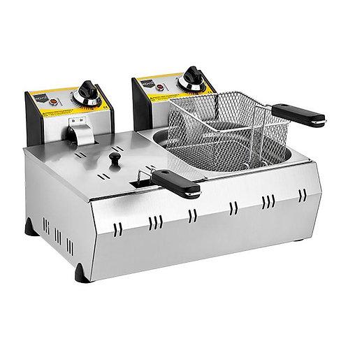 Fritöz Kapaklı Çiftli Elektrikli 5+5 LT
