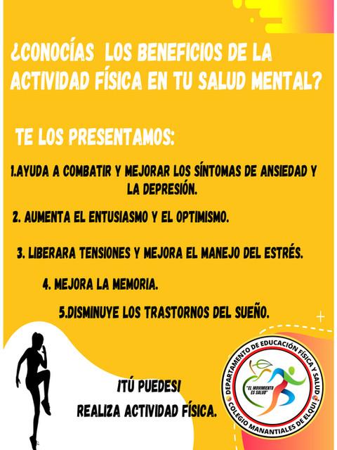 Poster 2 beneficios en salud mental