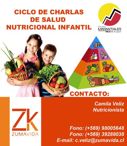 ciclo de charlas de salud nutricional infantil