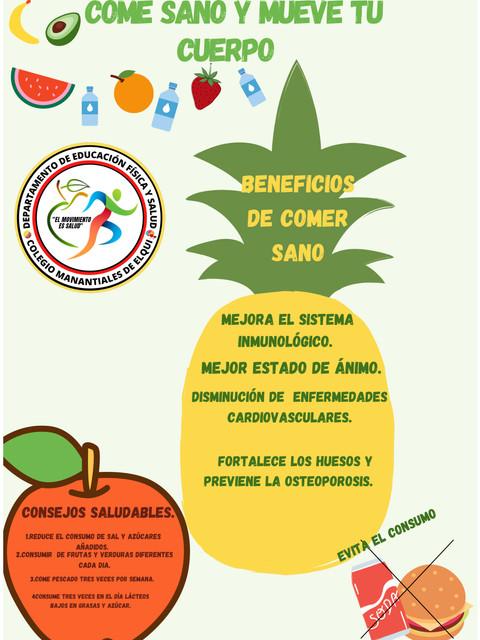 Poster 3 alimentacion saludable