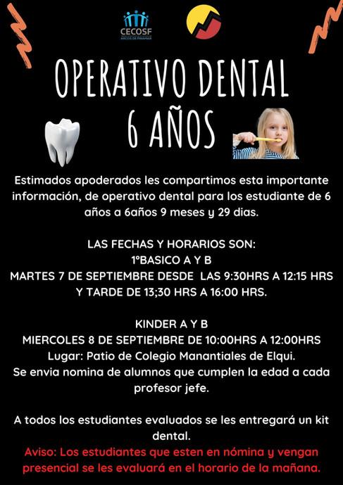 OPERATIVO DENTAL 6 AÑOS