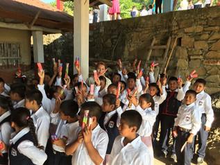 Se implementa el Programa de Cepillado Diario en escuelas primarias de Huejutla, Hidalgo.