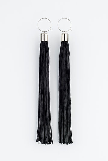 tassel earrings, Yael Keila Sagi and Sketch collaboration
