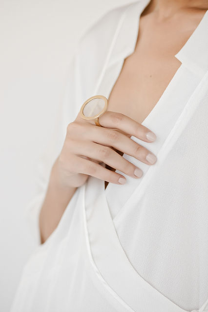golden statement Pagoda ring