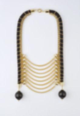 golden tribal necklace, Yael Keila Sagi and Kobi Halperin collaboration