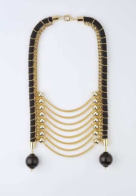 golden tribal necklace, Yael Keila Sagi and Kobi Halperin collaboration