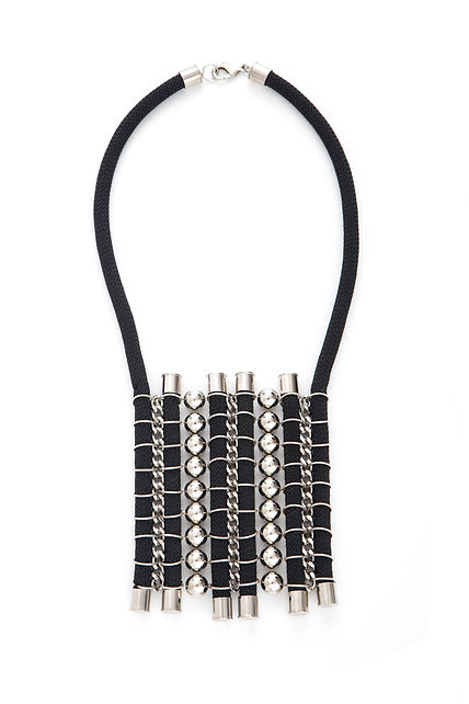 urban statement silver necklace