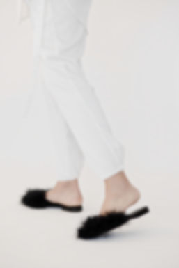 white leisure satin silk pants