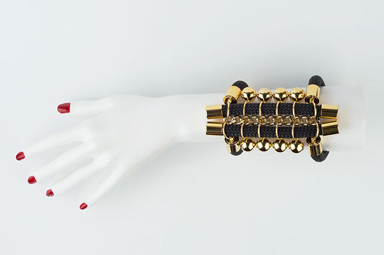 golden tribal bracelet, Yael Keila Sagi and Kobi Halperin collaboration