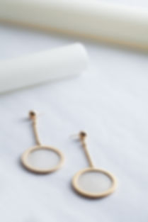 hanged golden statement earrings
