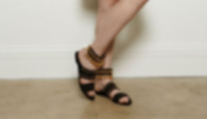 golden tribal leg bracelets, Yael Keila Sagi and Kobi Halperin collaboration