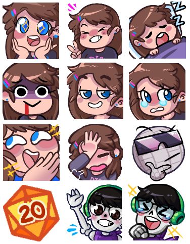 Mostly emotes I've made for myself and a few others