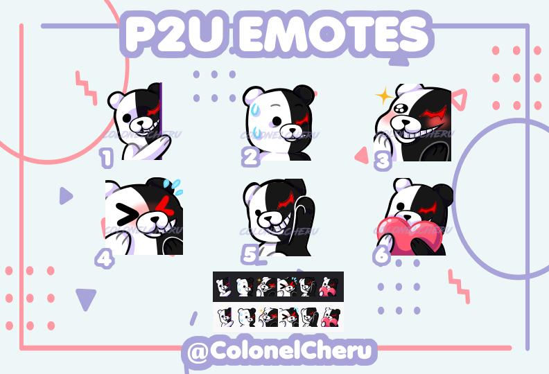 Monokuma P2U emotes