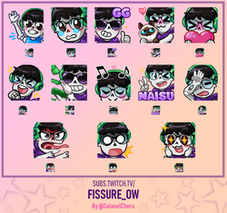 Emotes commissioned for Fissure