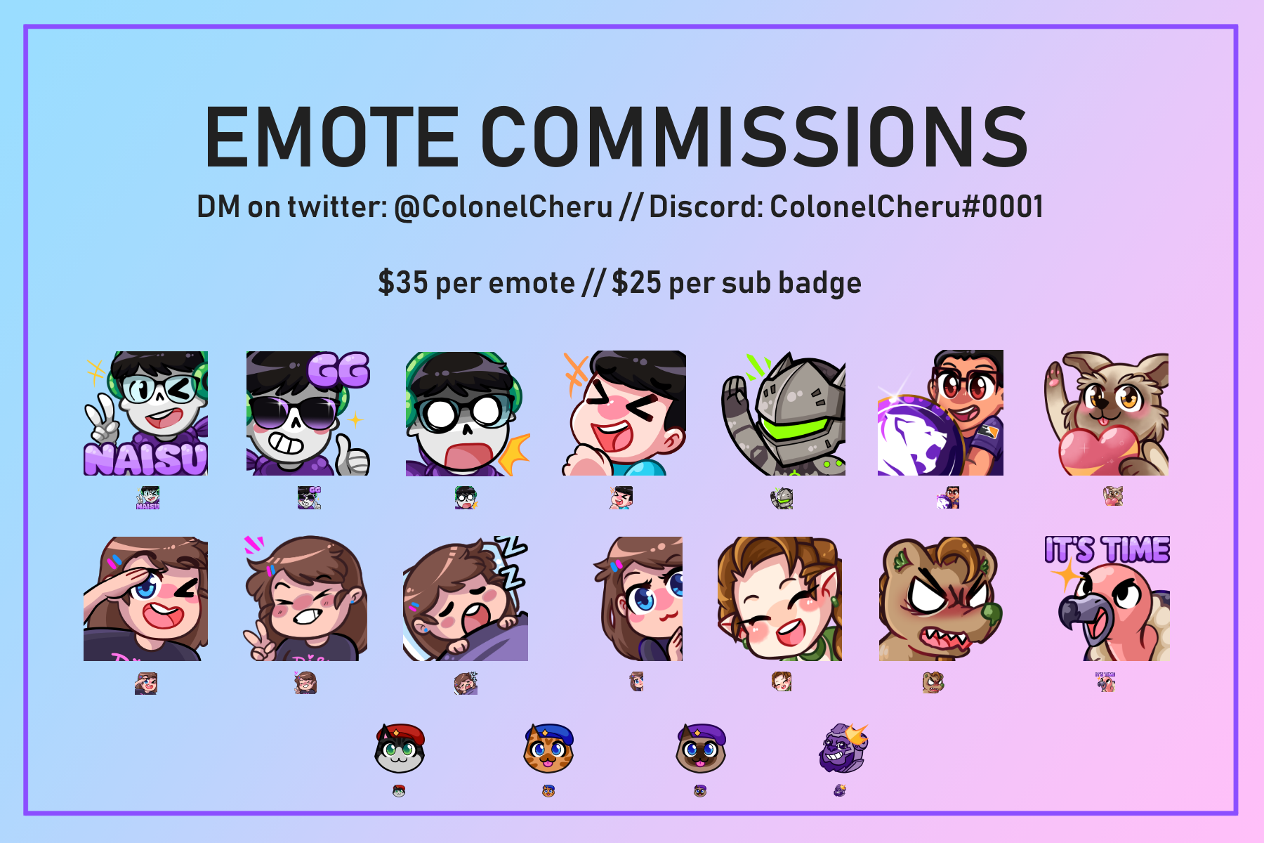 Emote Commission Examples