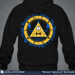 Bill Cipher Hoodie Back