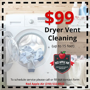 Red Apple Air | Dryer Vent Cleaning Coupon