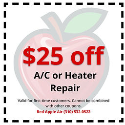 Red Apple Air Coupons | $25 off