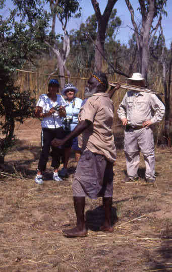 Aboriginal hunting demonstration