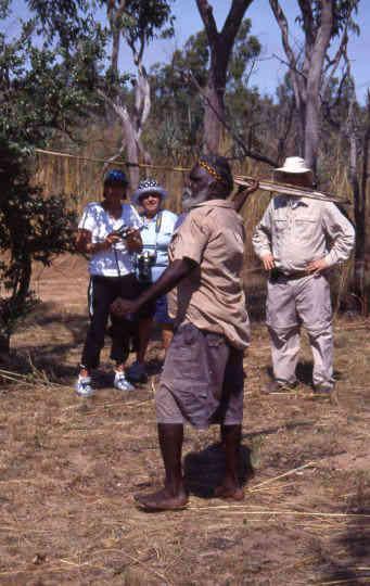 Aboriginal hunting demonstration
