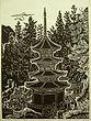 平塚運一 HIRATSUKA Unitci『朝の古塔 信州別所安楽寺』