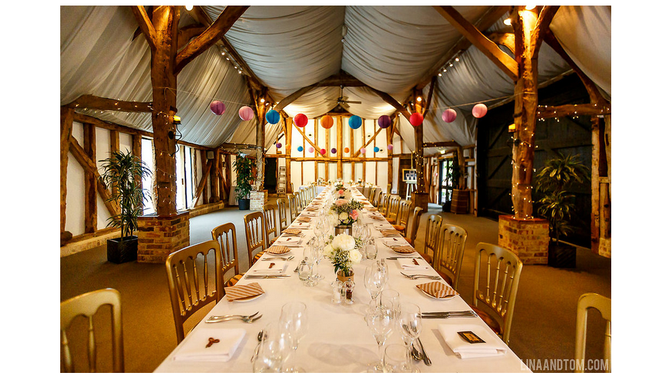 South Farm Wedding reception