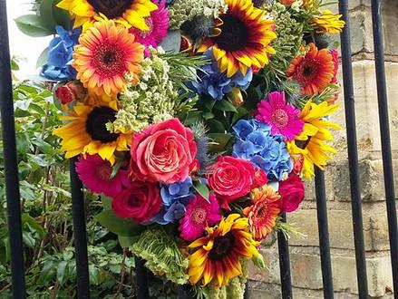 Wellies, Wedding & Wondeful Sunflowers!