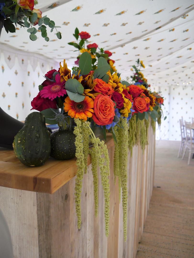 Bar Flower Display