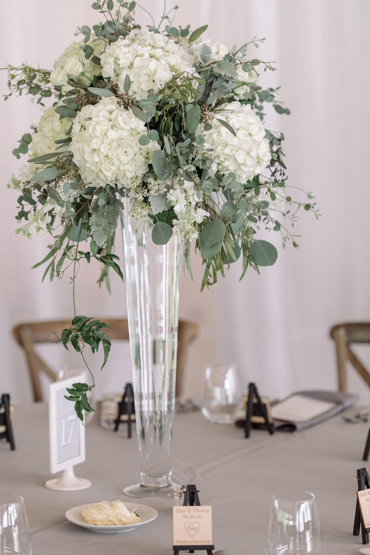 White hydrangea - glass display .jpg