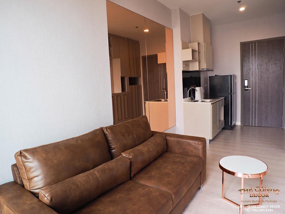 Living room   white newyork #แต่งคอนโดกับThecondodecor