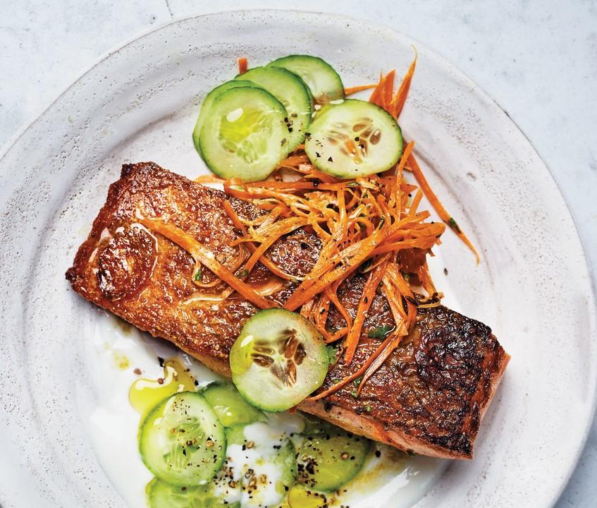 salmon-with-cucumber-yogurt-sauce-and-ca