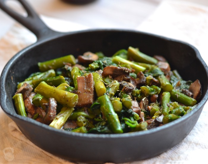 6 Asparagus-and-Spinach-Savory-Saute
