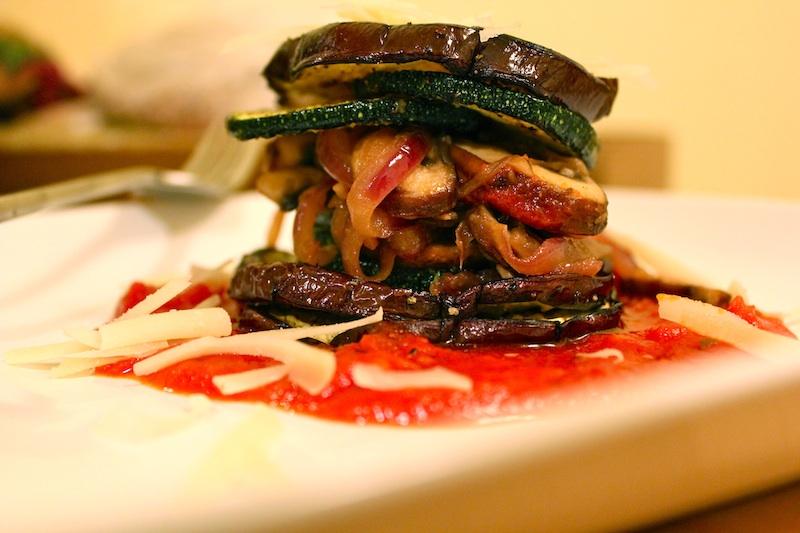 Crisp Eggplant & Zucchini Stack