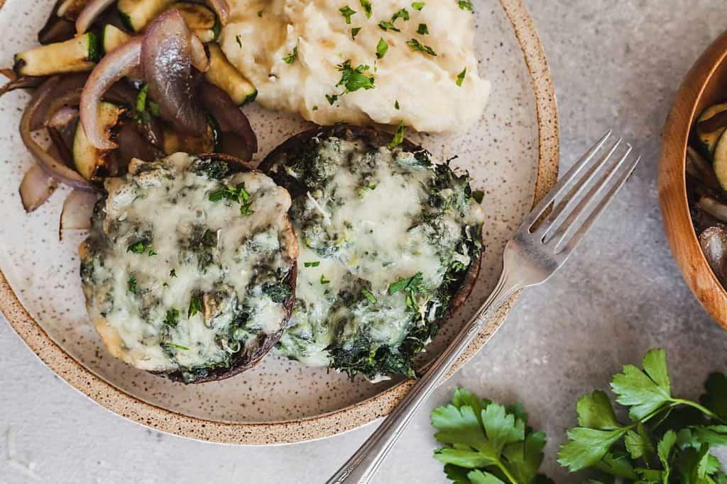 Spinach-Stuffed-Portobello-Mushrooms-The