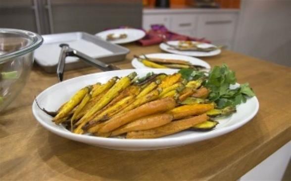 3 tri roasted carrots
