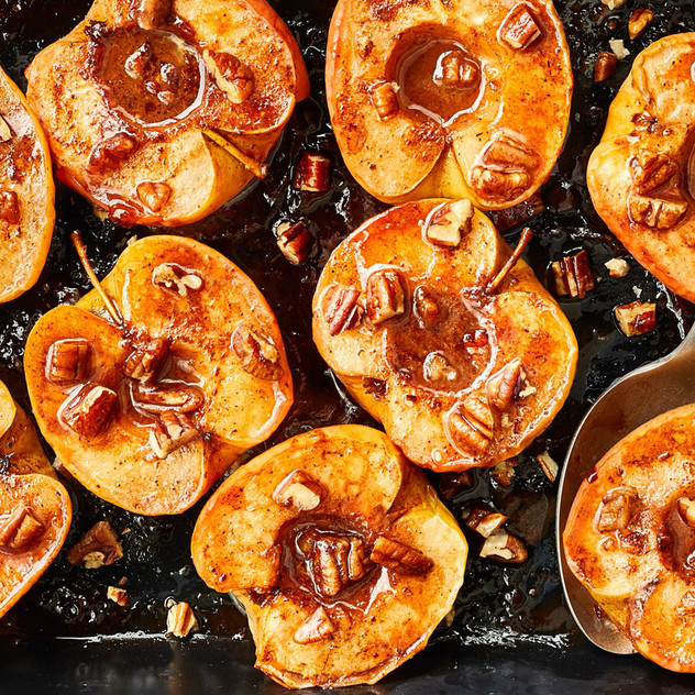 spiced brown butter apples image