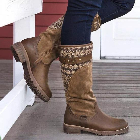 Knee-High Zip up Boots