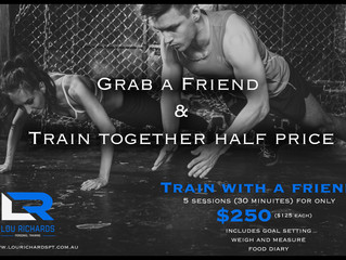 Train with a friend for half price