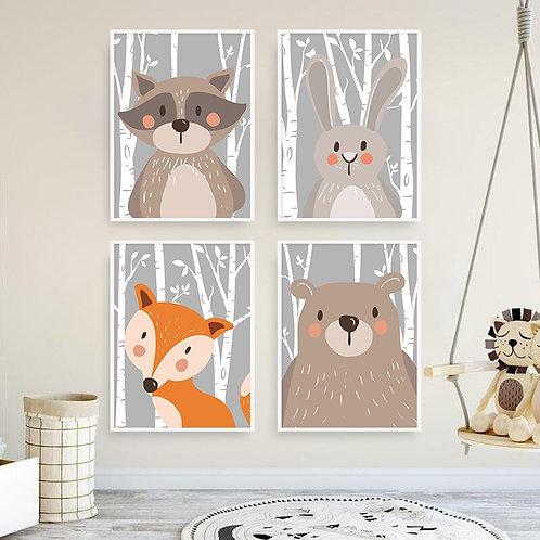 Forest Animals Wall Art