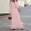 Thumbnail: Loose Empire Ruffles Long Sleeve Round Neck Floor-Length Dress