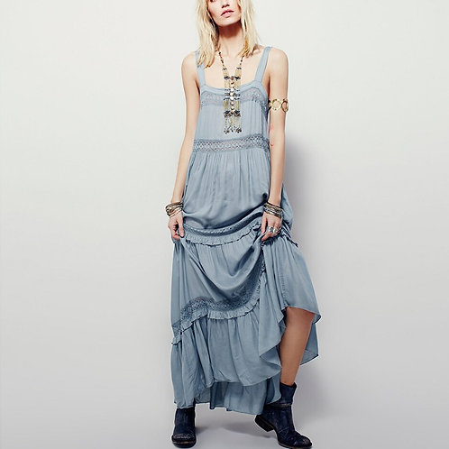 Lace Trim  Maxi Dress