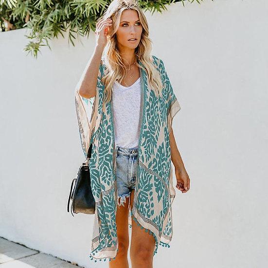 Bohemian Half Sleeve Short Kimono