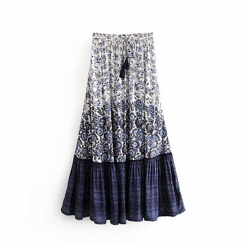 Vintage Floral Print Skirt