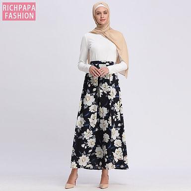 High Waist Floral Skirt