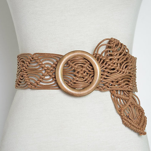 Boho Round Buckle Vintage Handmade Belt
