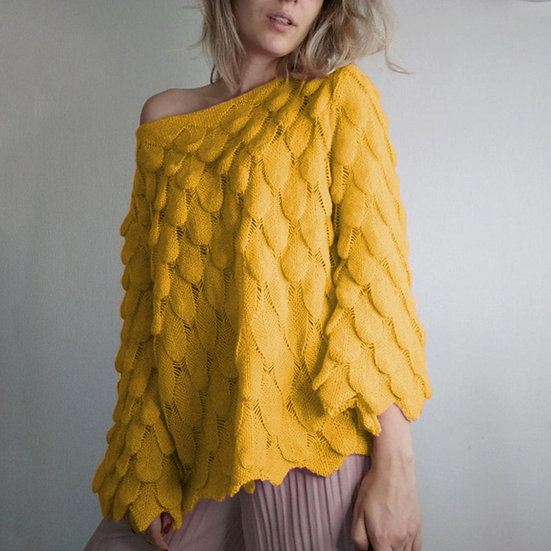 Feather Knit Thin Autumn Sweater
