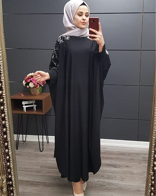 Seven-Point Sleeve Dress (Plus Size Available)