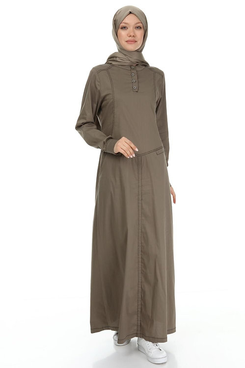Sport Long Dress With Pockets.