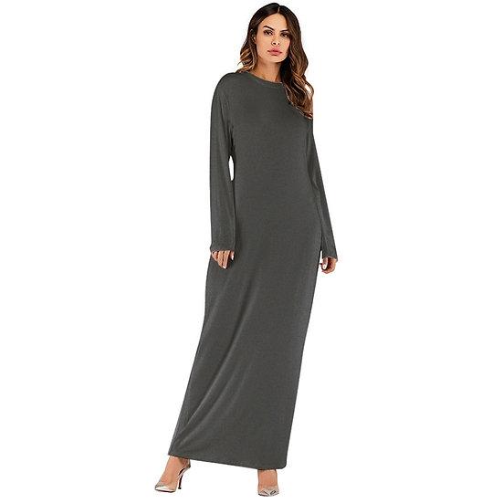 Long Sleeve Cotton Maxi Dress