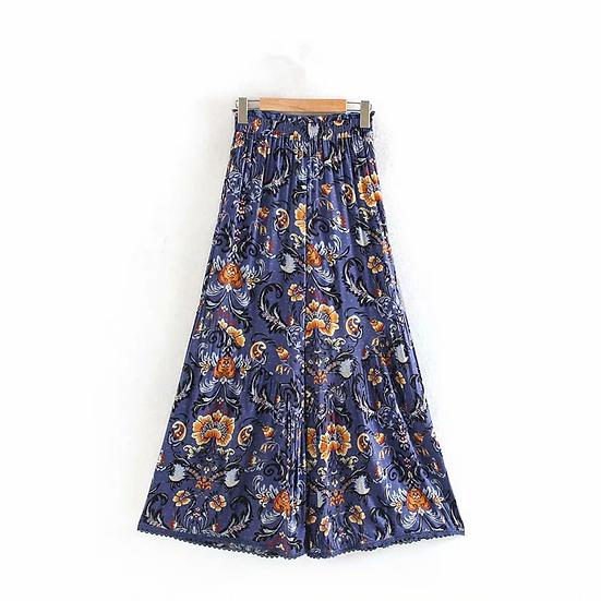 Floral Wide Leg Bohemian Pants